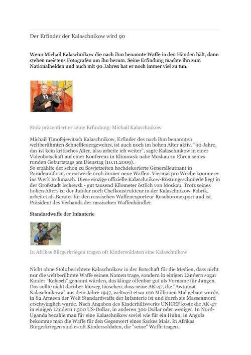 Erfindungen aus Deutschland - Leseverstehen