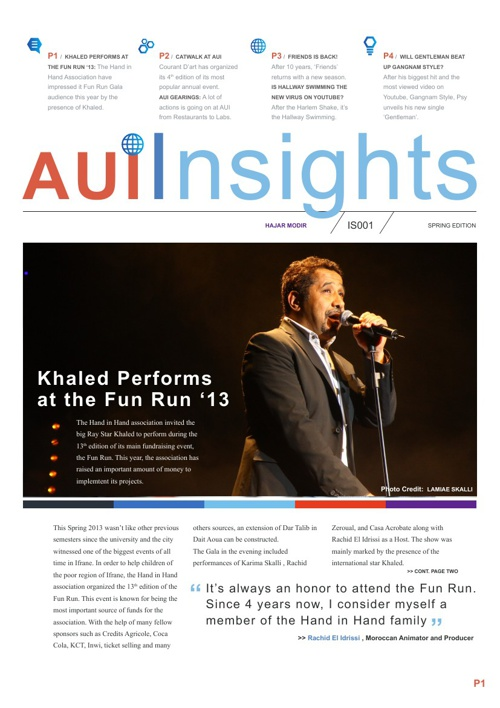 Newsletter-AUI INSIGHTS by Hajar Modir
