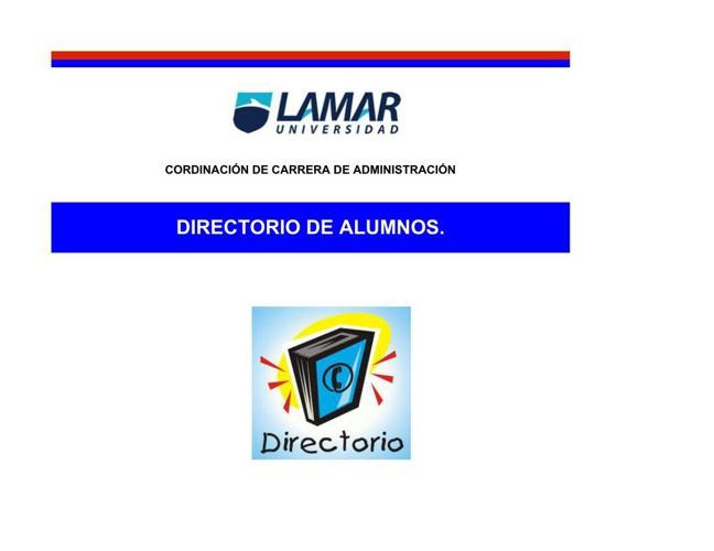 DIRECTORIO ALUMNOS LAD LAMAR
