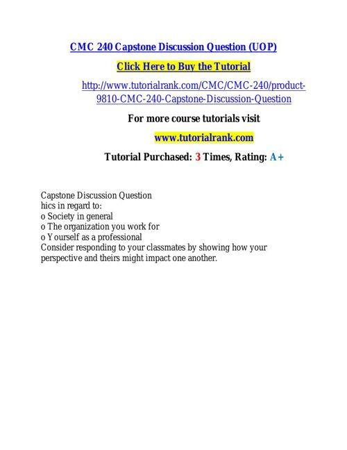 CMC 240 learning consultant / tutorialrank.com