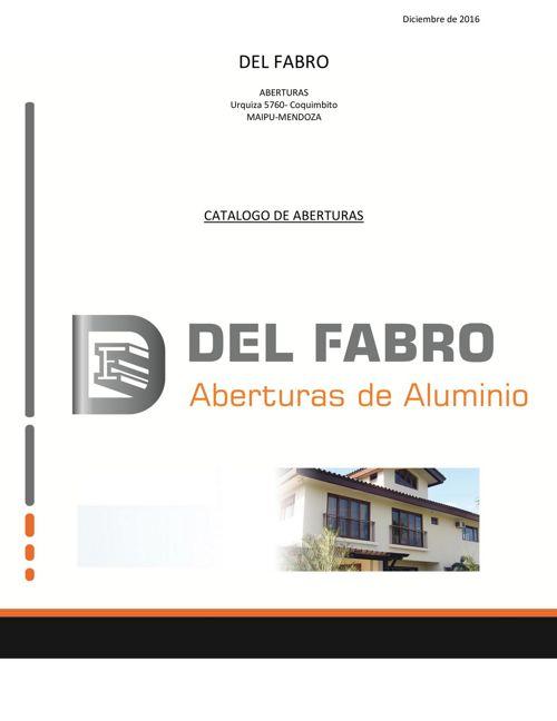 CATALOGO DE ABERTURAS