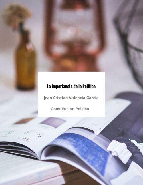 La importancia de la Política