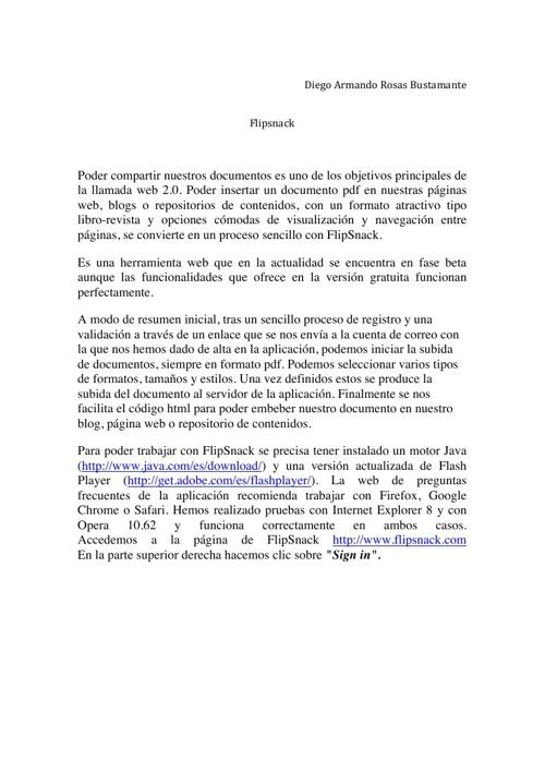 EJERCICIO FLIPSNACK