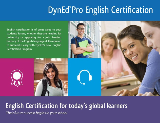 DynEd Pro Student Certification Program 4 page BROCHURE v1 ENGLI