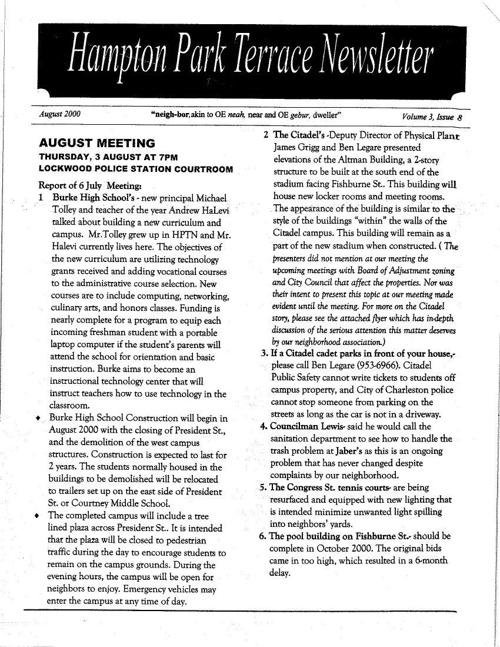 HPT Neighborhood August 2000