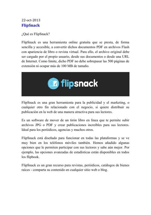 ¿Qué es FlipSnack?