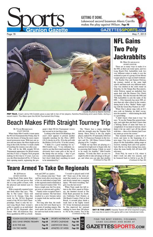 Gazette Sports   May 7, 2015
