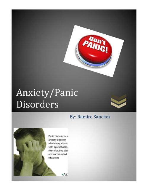 Anxiety/ Panic Disorders