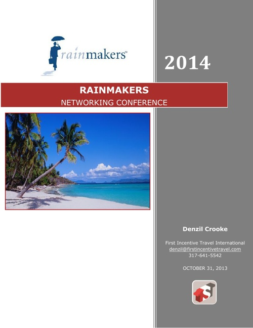 Rainmakers Proposal Networking Conference 2014