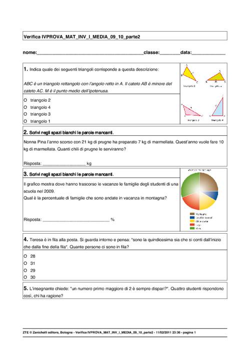 I.V.A.L.S.I. Prova di Matematica 2/2