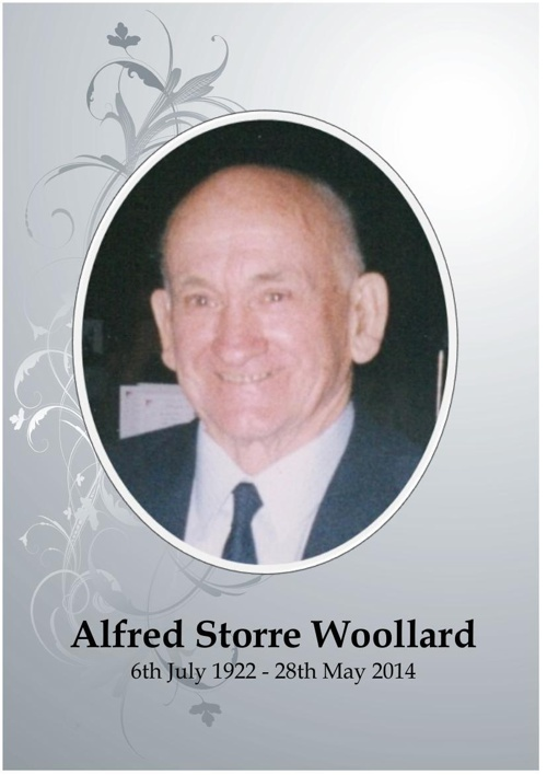 4 Order of Service for Alfred Storre Woollard