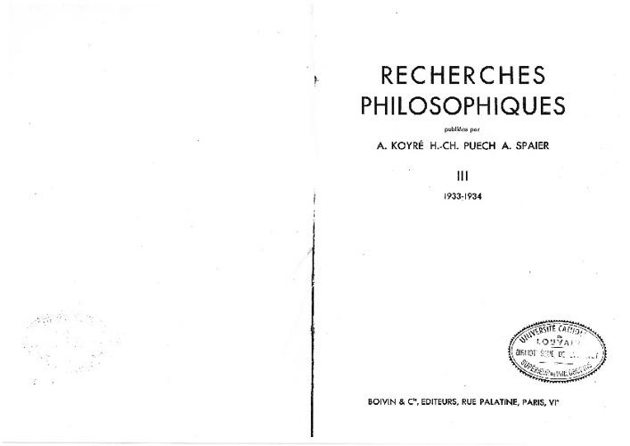 La Théologie dialectique et l'Histoire