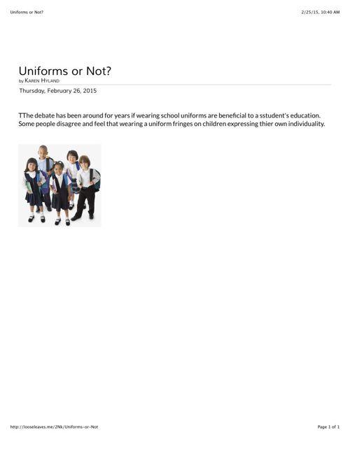 Uniforms or Not Karen