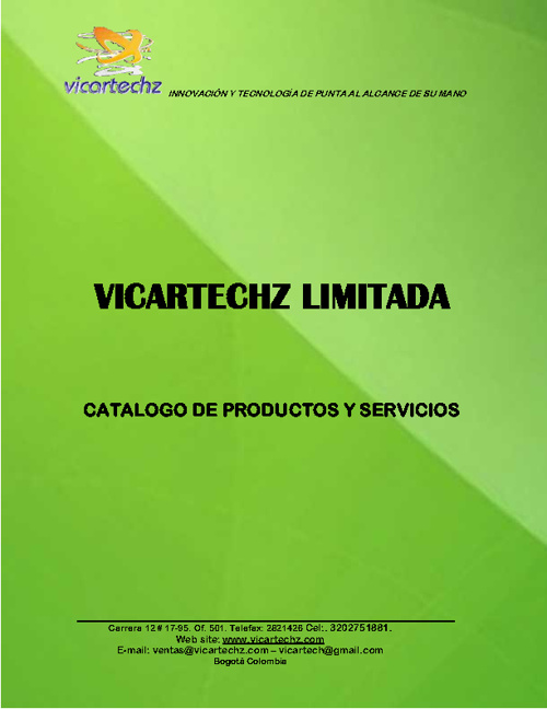 Brochure Vicartechz 2013