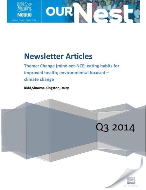 Our Nest Newsletter.q3.2014.2