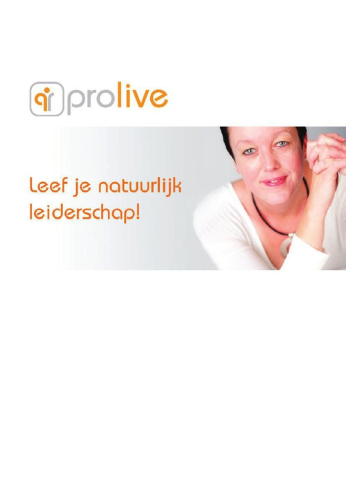Prolive Digitale Brochure Individu