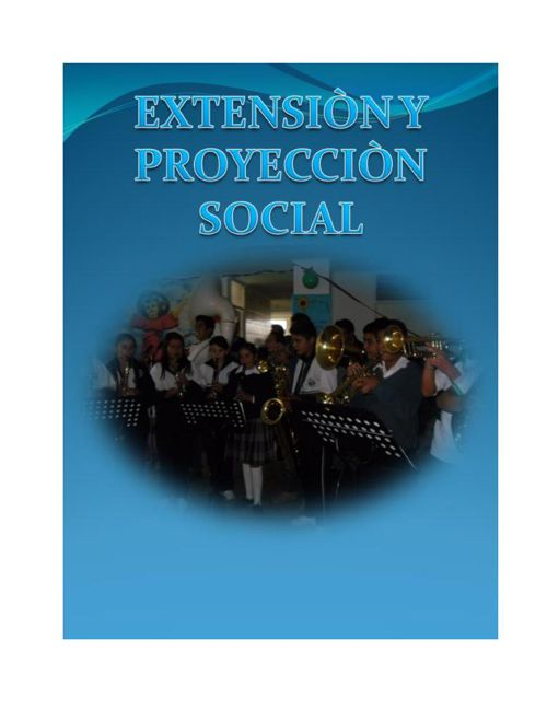 Extension y proyeccion social