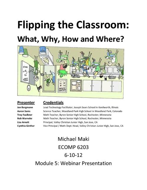 ECOMP 6203 Michael Maki Module 5 Webinar Presentation