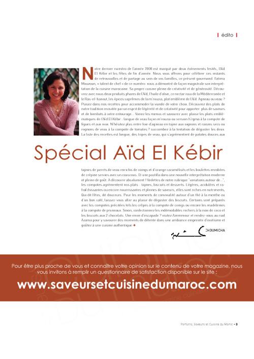 Saveurs et Cuisine du Maroc n°20 : Spécial Aïd el Kébir