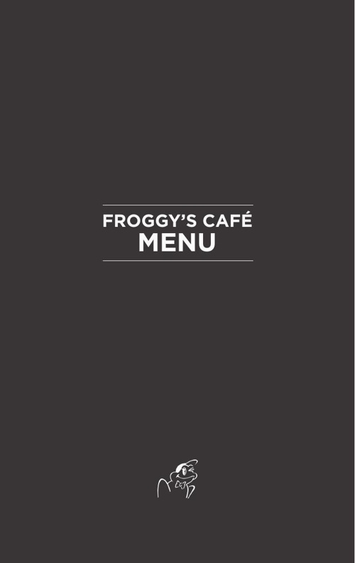 Froggy's Café - English Menu