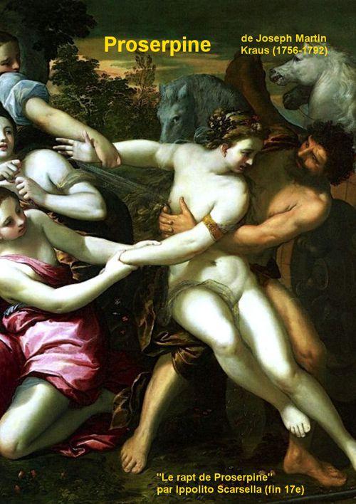 Proserpine par Joseph Martin Kraus - argument