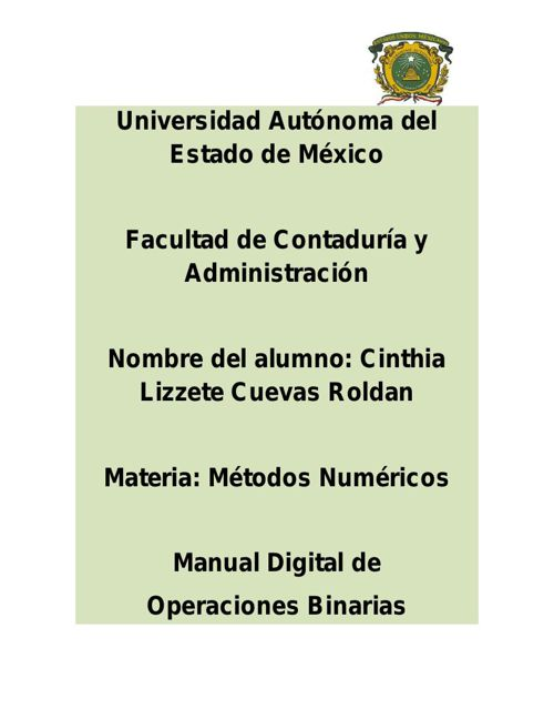 MANUAL DIGITAL DE LAS OPERACIONES BINARIAS