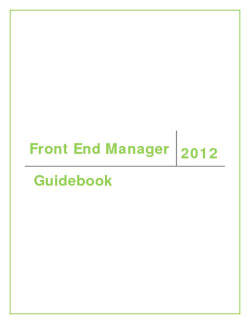FEM Guidebook 2012