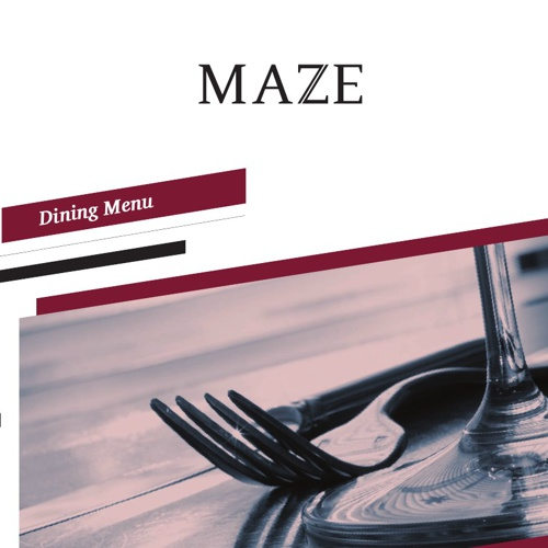 Maze Cafe Menu