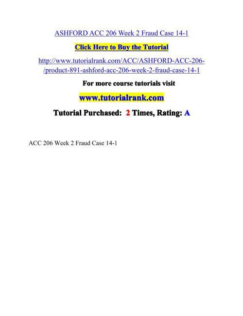 ASHFORD ACC 206 Week 2 Fraud Case 14-1