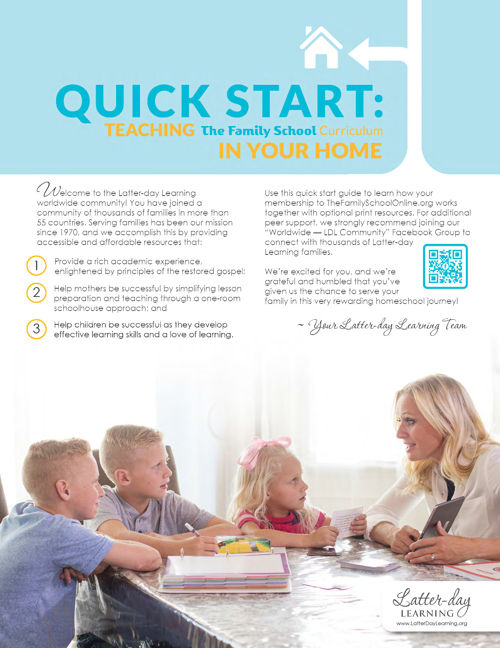 Quick Start Guide for Teaching The Family School Curriculum