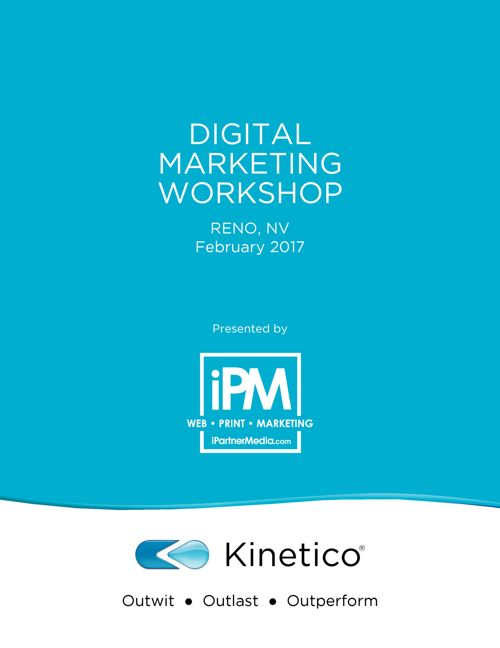 Kinetico Digital Marketing Workshop 2017 Presented By iPartn