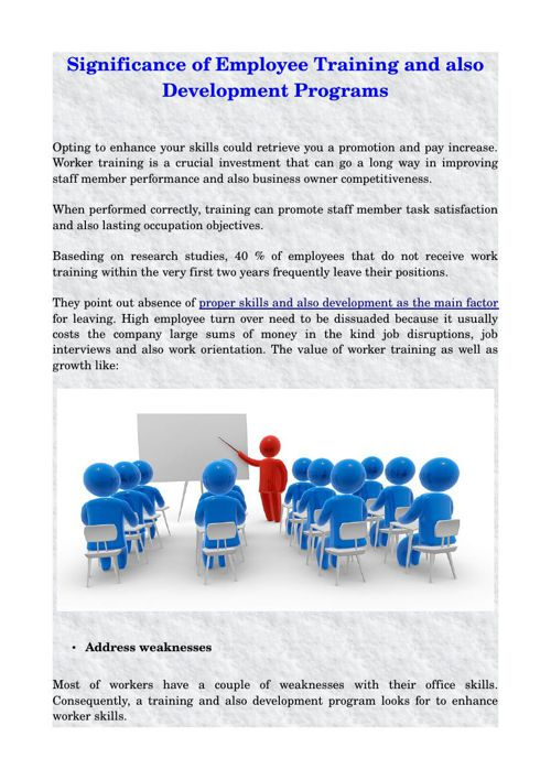 Significance of Employee Training and also Development Programs