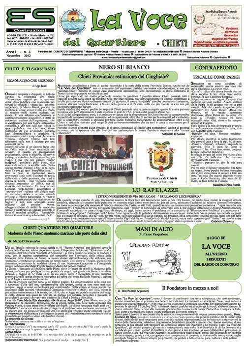 La Voce del Quartiere - Chieti - Novembre 2012 Ano I n.4