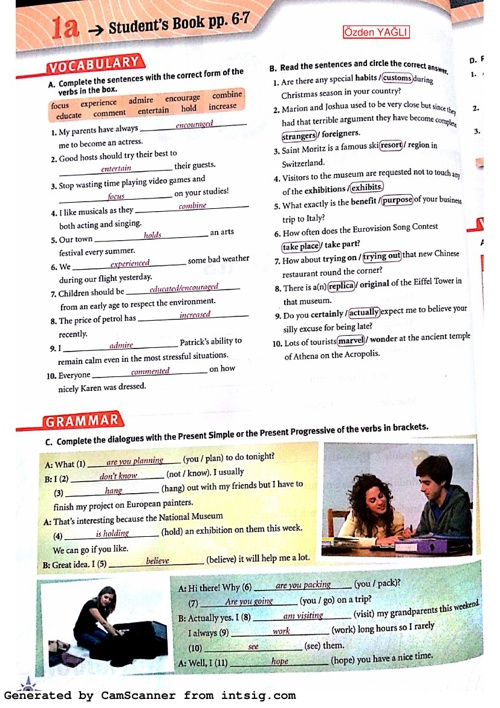 B1 - Workbook - Module 1 Answer Key