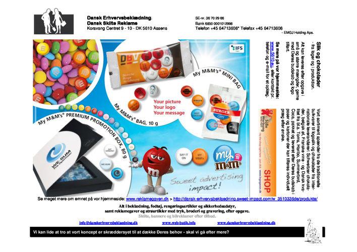 294 Slik og chokolader - M&M´s - fra lager og i produktion 16
