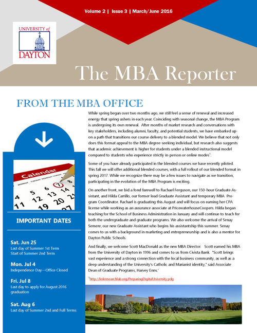 MBA Newsletter June 2016