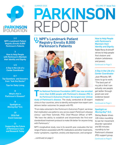 Parkinson Report: Summer 2016