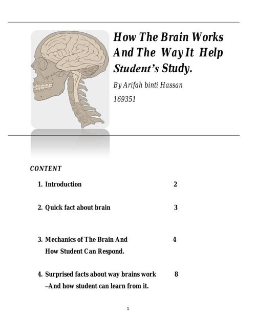 How The Brain Works And The  Way It  Help Student