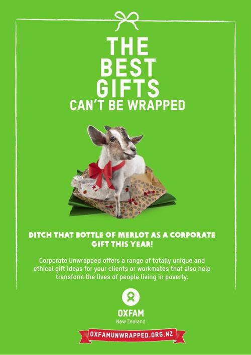Oxfam Unwrapped Brochure