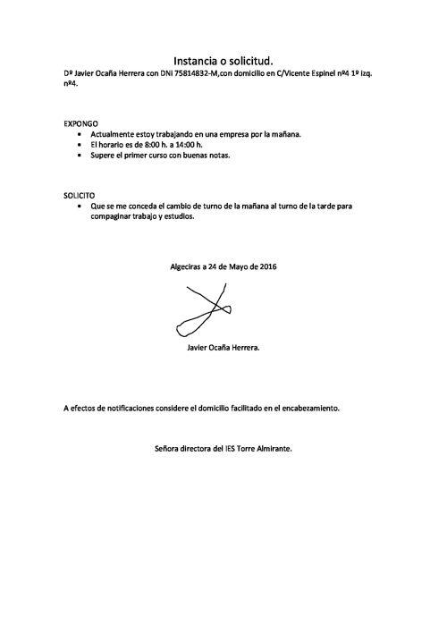Instancia o solicitud (2)