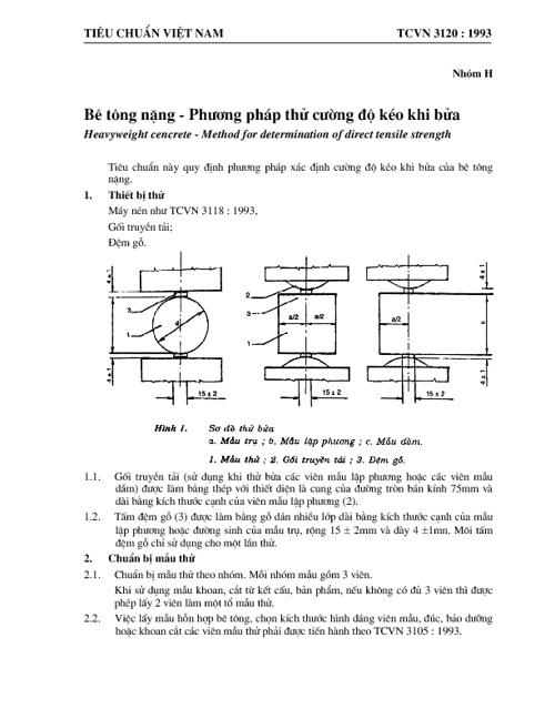 TCVN3120-1993-be tong nang-pp xac dinh cuong do keo khi bua