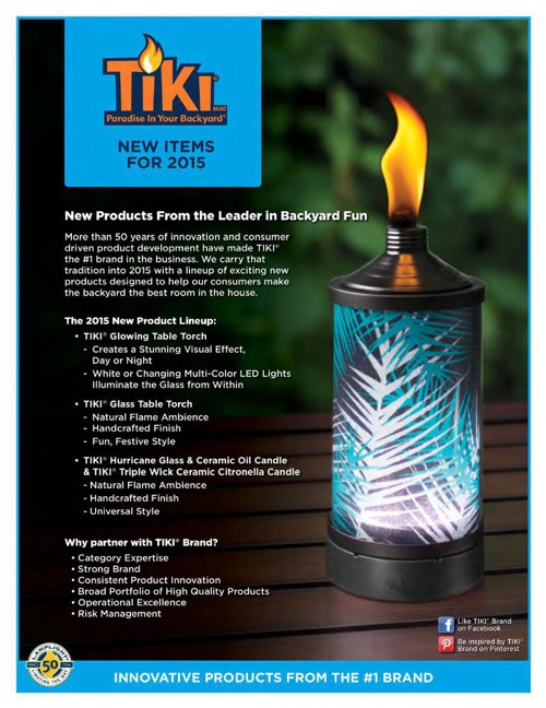 2015 - TIKI® New Items