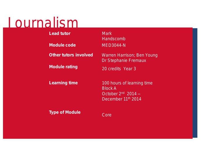 New Media Landscapes module handbook 2014 15