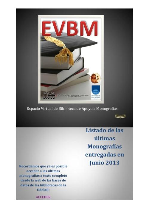 Monografías Junio 2013
