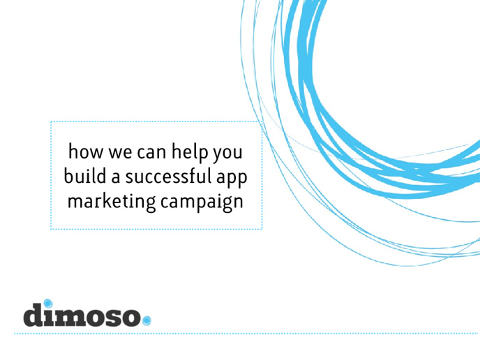 dimoso app promotion overview
