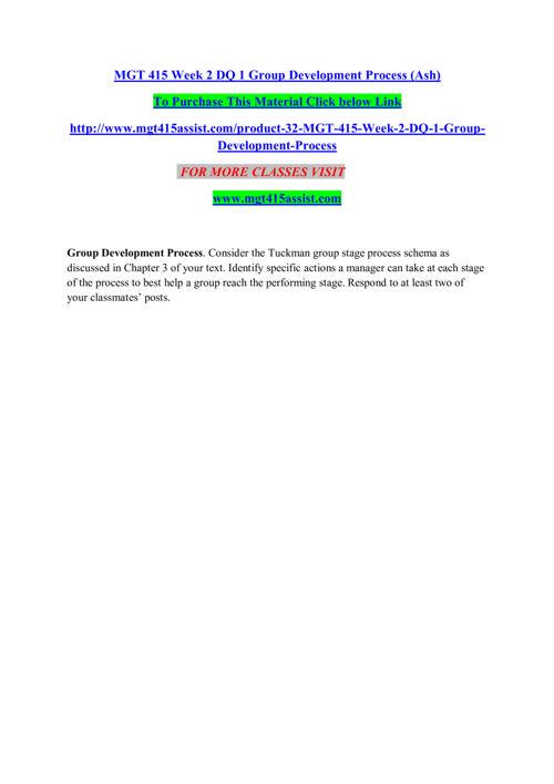 MGT 415 ASSIST Entire course /mgt415assist.com