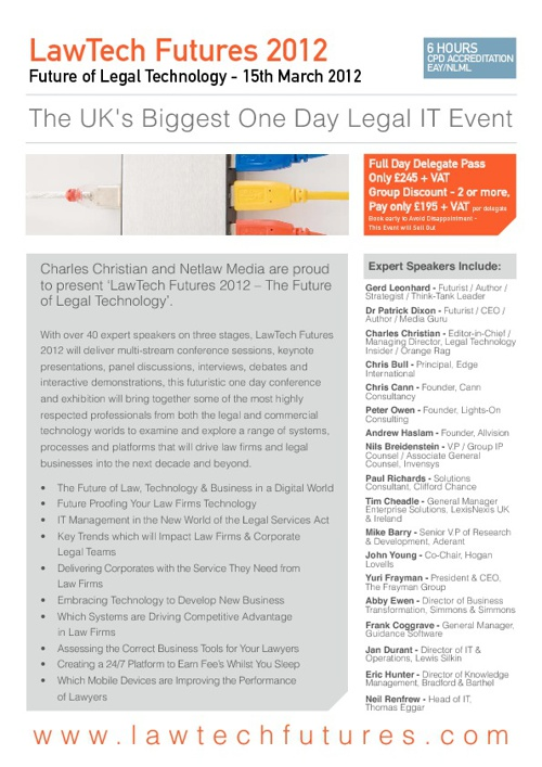 LawTech Futures 2012 - Brochure
