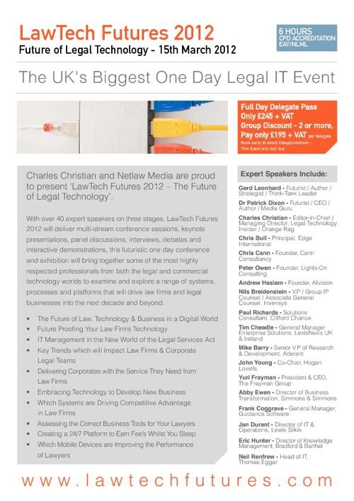 LawTech Futures 2012 - Brochure