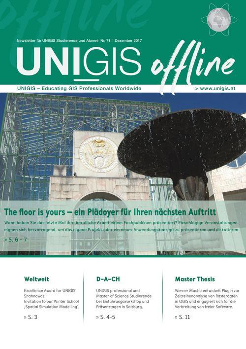 UNIGIS offline Nr. 71 - Dezember 2017
