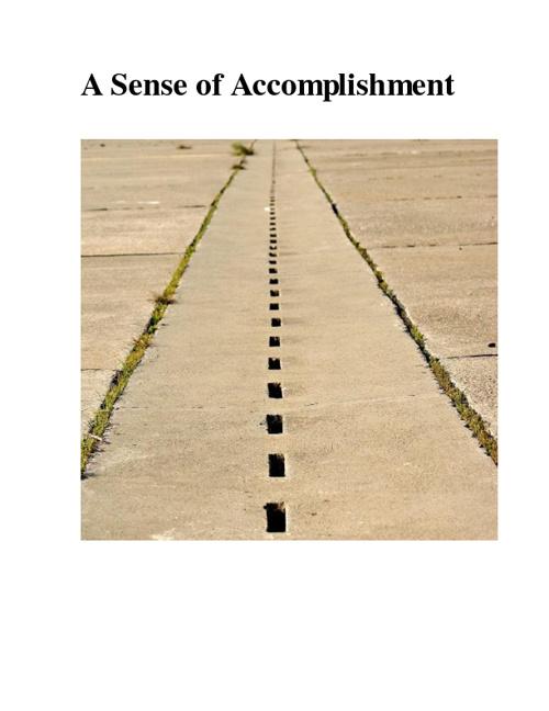 A Sense of Accomplishment